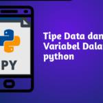 tipe data dan variabel python